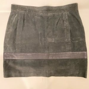 BALENCIAGA Suede Mini Skirt Sz 40